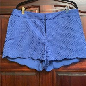 Elle blue scallop shorts